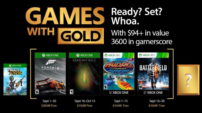 Forza Motorsport 5, Oxenfree, Battlefield 3 e altro nei Games with Gold di settembre
