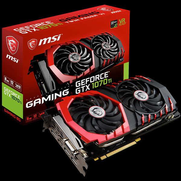 MSI svela le nuove schede video GeForce 1070 Ti custom