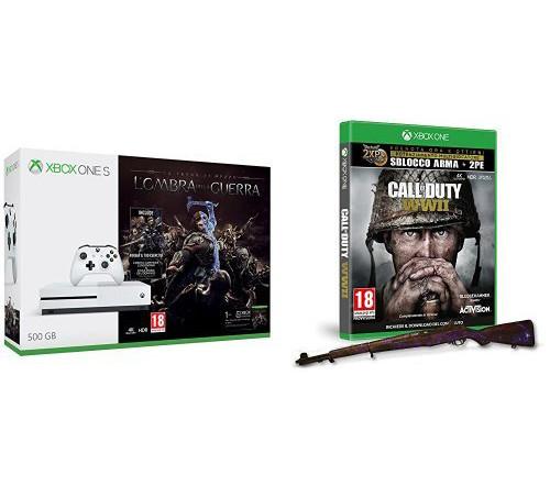 In promozione oggi su Amazon Xbox One S con Call of Duty: WWII e L'ombra della Guerra, stampante 3D e tanto altro
