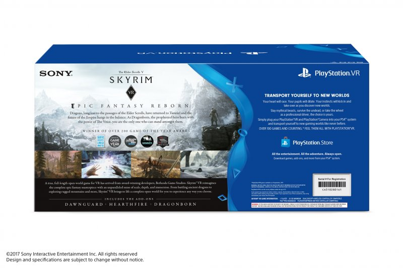 Annunciato un bundle di PlayStation VR con The Elder Scrolls V: Skyrim VR