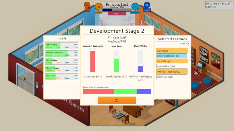 Sviluppatori per gioco nella recensione di Game Dev Tycoon