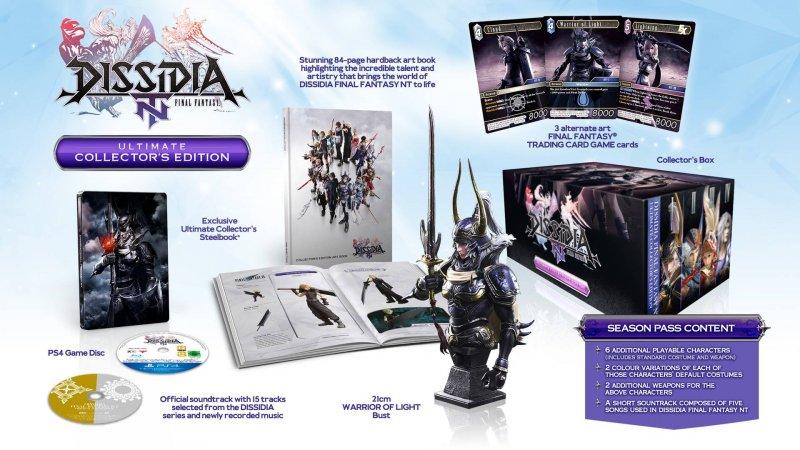 Vediamo l'unboxing della ricca Collector's Edition di Dissidia Final Fantasy NT