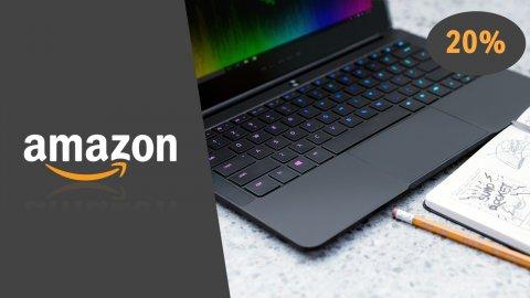 Il Razer Blade Stealth tra i prodotti in sconto oggi su Amazon, insieme a memorie SanDisk e monitor