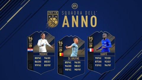 Modric, De Bruyne e Kanté sono i centrocampisti della Squadra dell'Anno di FIFA 18 Ultimate Team