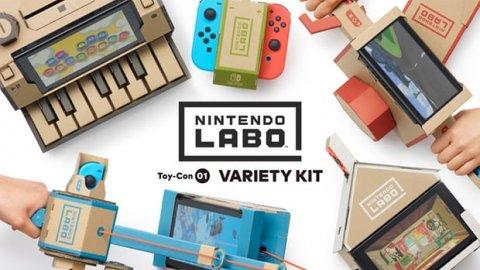 Nintendo Labo balza subito in cima alla classifica dei videogiochi più venduti su Amazon