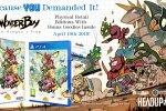La versione in scatola di Wonder Boy: The Dragon's Trap arriva il 19 aprile in Europa su PS4 e Switch