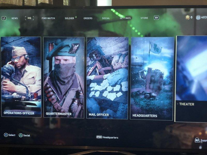 Aggiornamento Call Of Duty WW2, introdotte modifiche anche al Quartier Generale