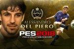 Alessandro Del Piero e Pavel Nedved tornano in campo con Pro Evolution Soccer 2018