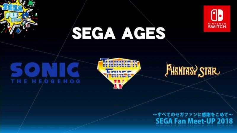 SEGA Ages uscirà per Nintendo Switch e riproporrà 15 classici del passato