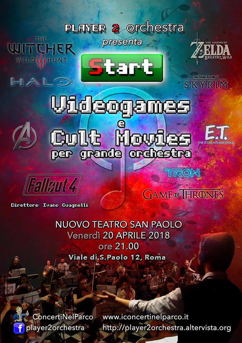 Il prossimo weekend la Player 2 Orchestra si esibirà con un concerto dedicato al mondo dei videogiochi, dei film e delle serie di culto