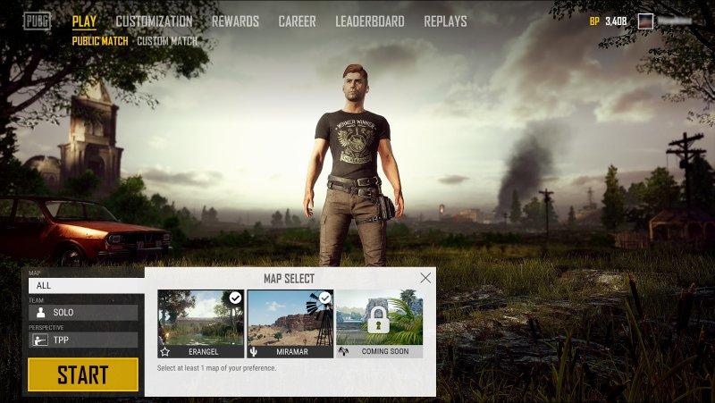 Playerunknown's Battlegrounds: arriva la selezione delle mappe