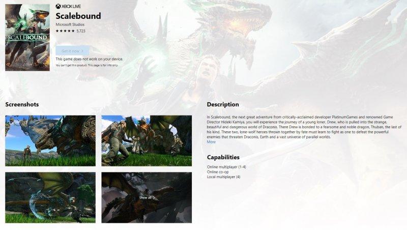 Scalebound: sul Microsoft Store è riapparsa la pagina del gioco