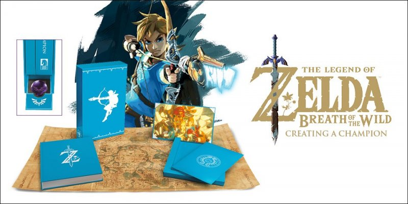 """L'artbook """"The Legend of Zelda: Breath of the Wild - Creating A Champion"""" in collector's edition"""