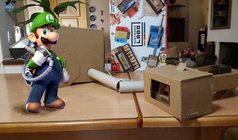 Nintendo Labo Il Nostro Poltergust 5000