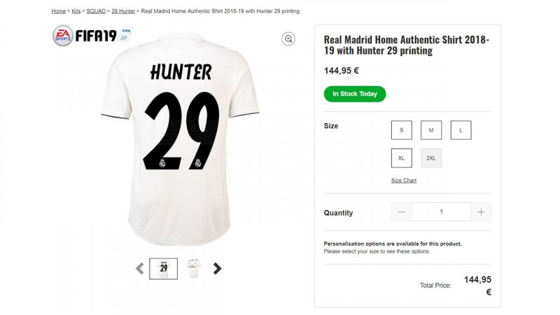 Real Madrid Alex Hunter