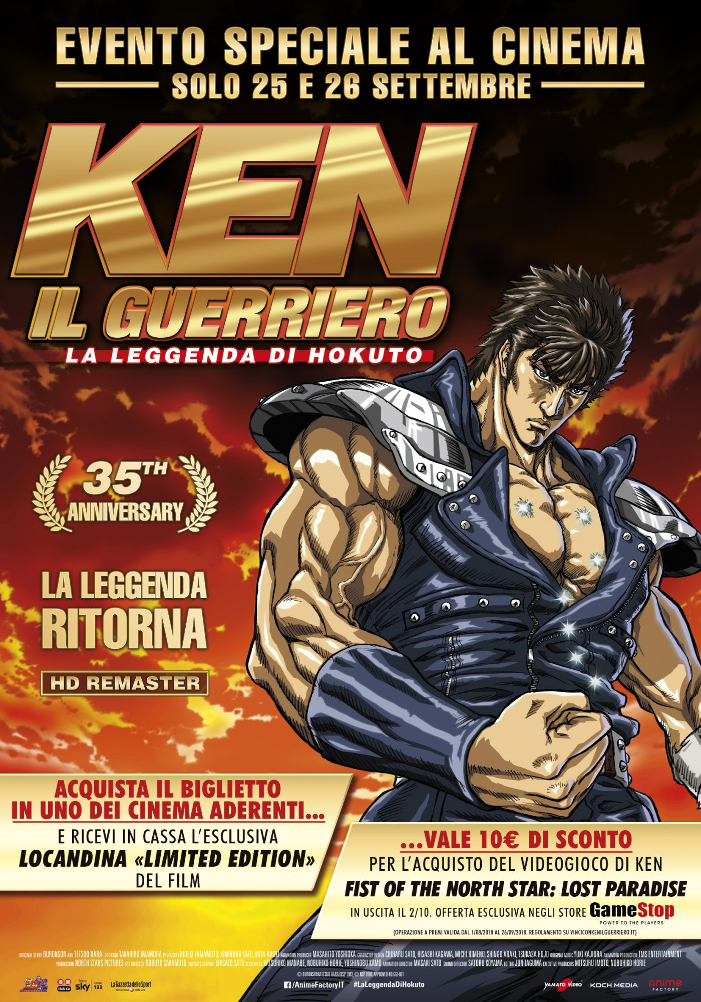 Ken Il Guerriero La Leggenda Di Hokuto Torna Al Cinema