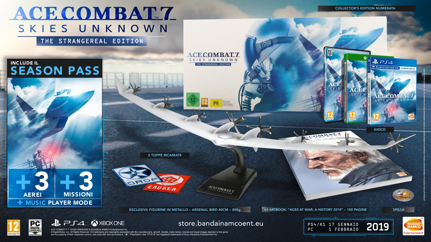 Ace Combat 7, ecco i bonus preorder: Ace Combat 5 su PS4