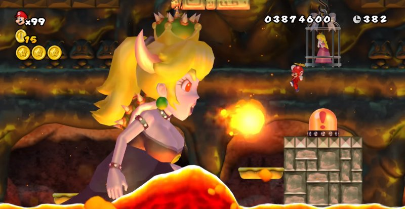 Bowsette New Super Mario Bros Wii