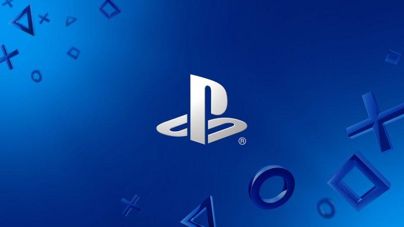 Playstation White Logo Blue Background 1