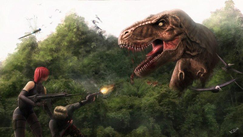 Bill Kellali Dino Crisis 2 Trex Scene