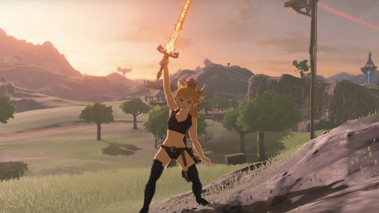 Bowsette The Legend Of Zelda Breath Of The Wild Screenshot