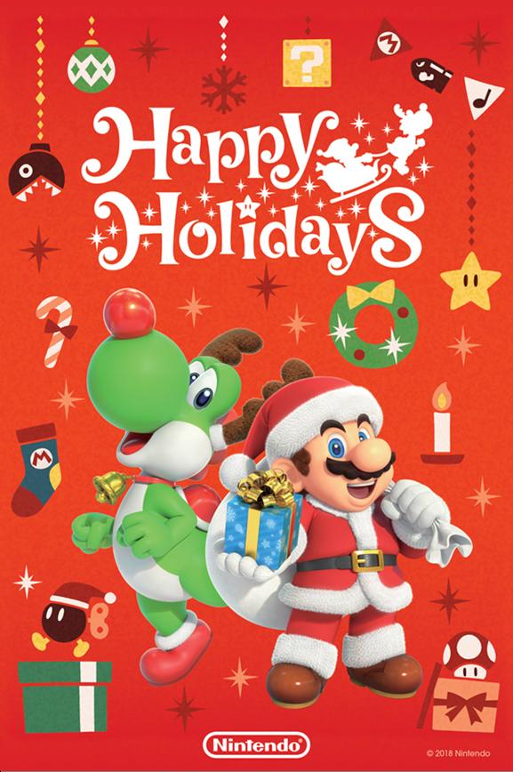 Cartoline Di Auguri Di Natale.Nintendo Una Cartolina A Tema Mario Per Gli Auguri Di Natale 2018