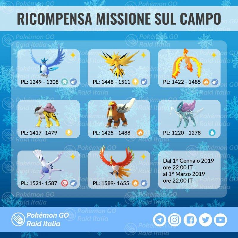 Pokemon Go Lugia Ho Oh Missioni Ricerca Gennaio 2019 1