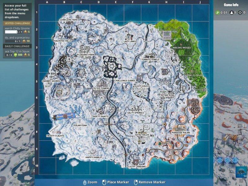 Fortnite Mappa Neve Inizia Sciogliersi 1