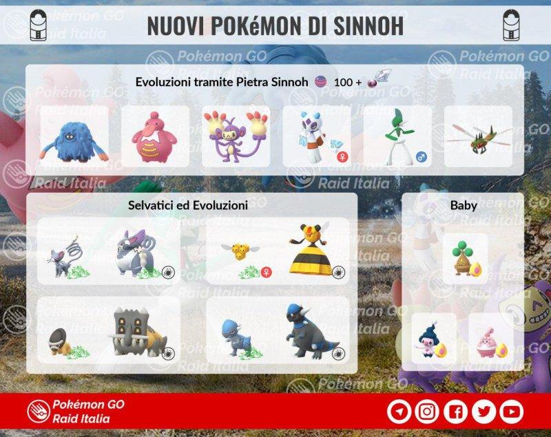 Pokemon Go Tutte Nuove Evoluzioni Sinnoh Immagine 1