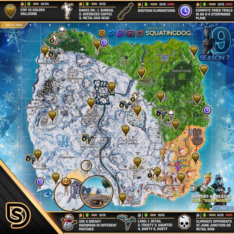 Fortnite Completare Sfide Settimana 9 Stagione 7 Immagine 1