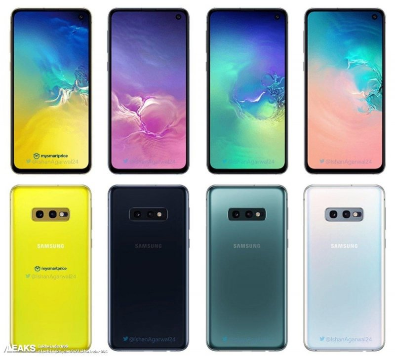 Samsung Galaxy S10 Colorazioni Leak 1