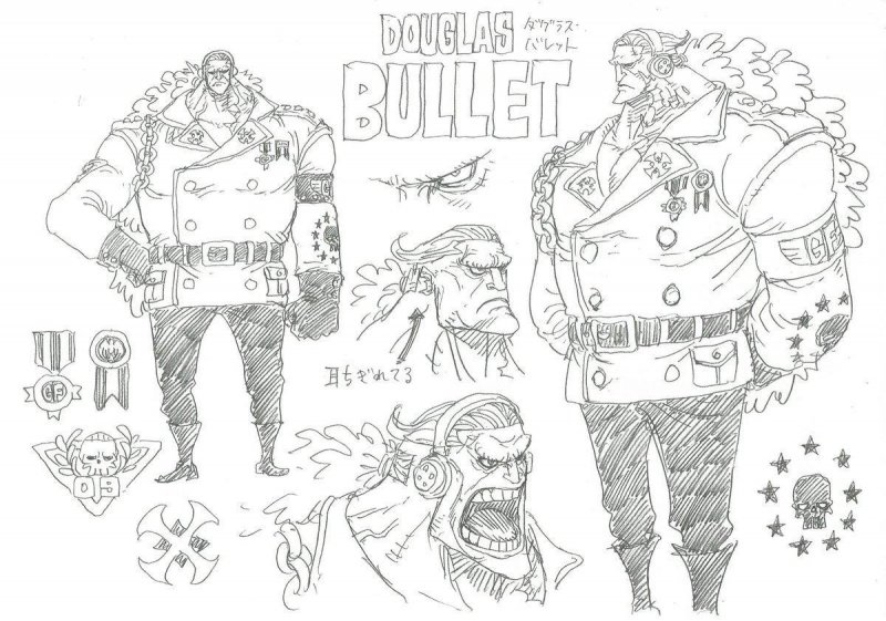One Piece Stampede Douglas Bullet Ciurma Roger 1