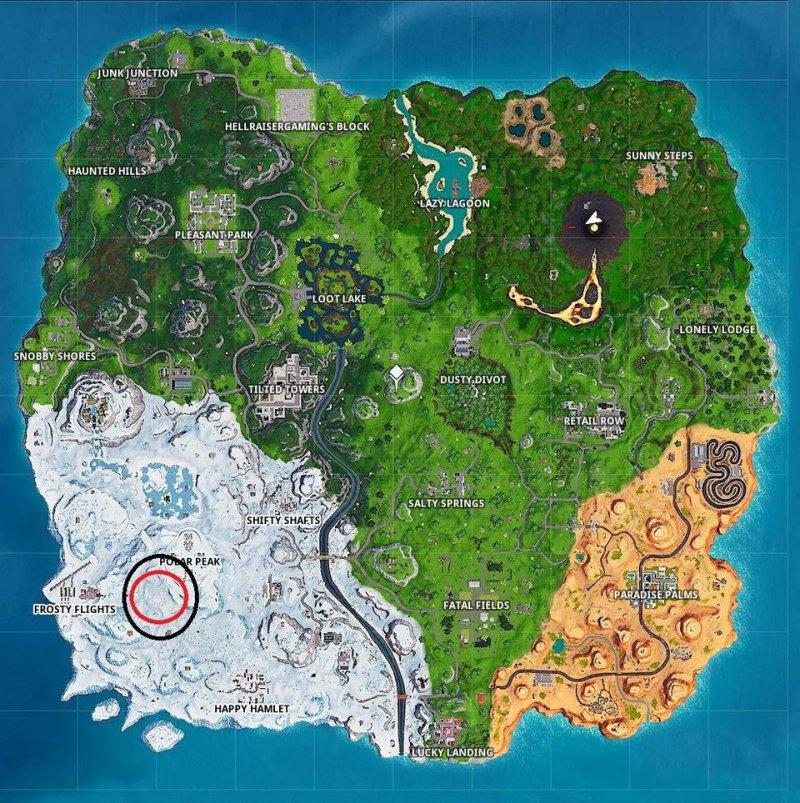 Fortnite Cerca Punto Lente Ingrandimento Mappa Tesoro Settimana 3 Stagione 8 2