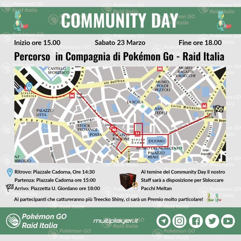 Pokemon Go Community Day Map