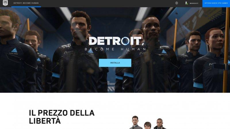 Detroit: Become Human disponibile gratis su Epic Games Store