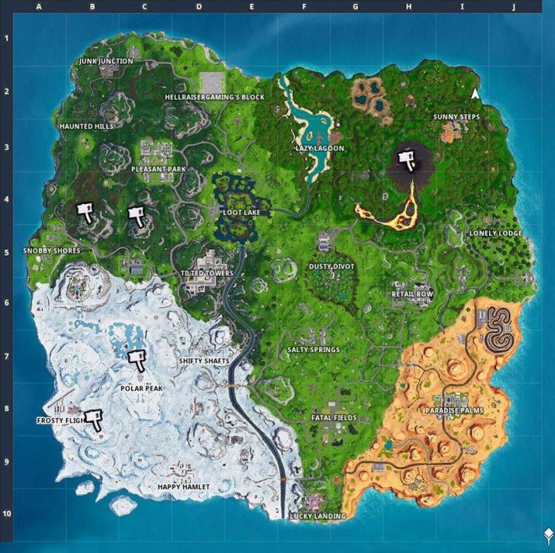 Immagini della mappa di fortnite season 9