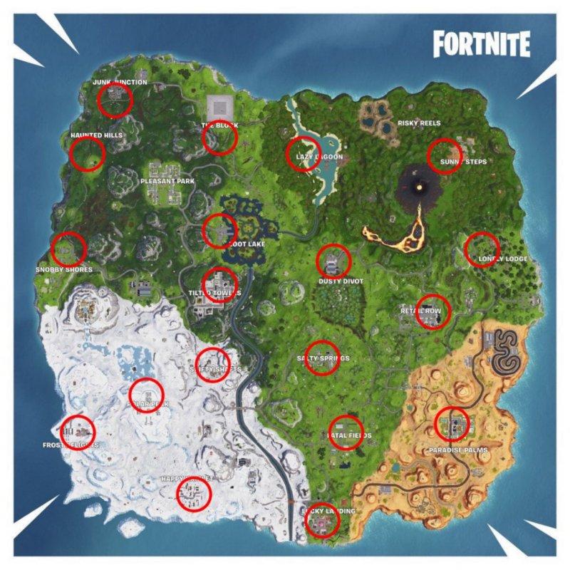 Fortnite Dove Trovare Furgoni Riavvio Mappa Gioco 1