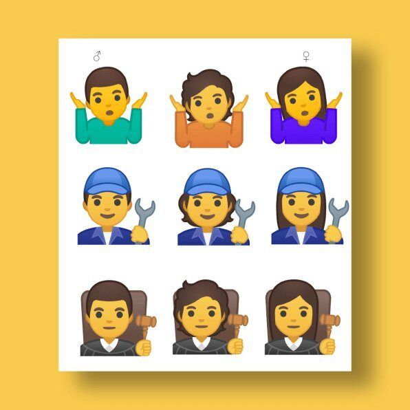 Non Binary Emoji Google 1