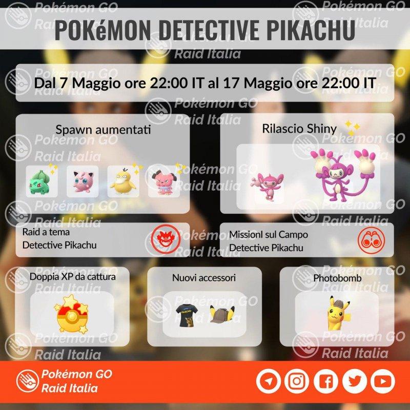 Pokemon Go Evento Detective Pikachu 2