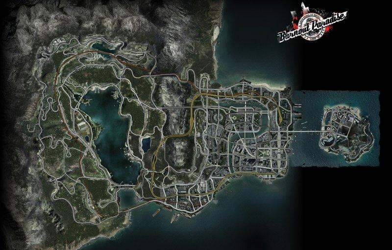 8 Burnout Paradise City Map