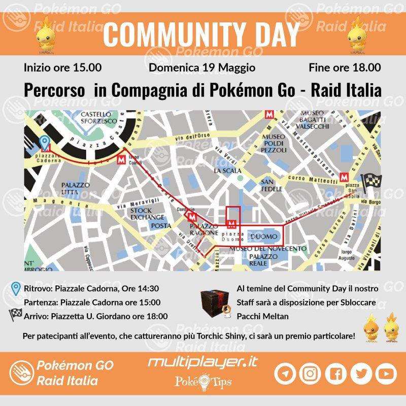 Mappa Community Day Maggio Milano 01 2