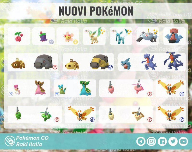 Pokemon Go Tutti Nuovi Pokemon Sinnoh Disponibili 1