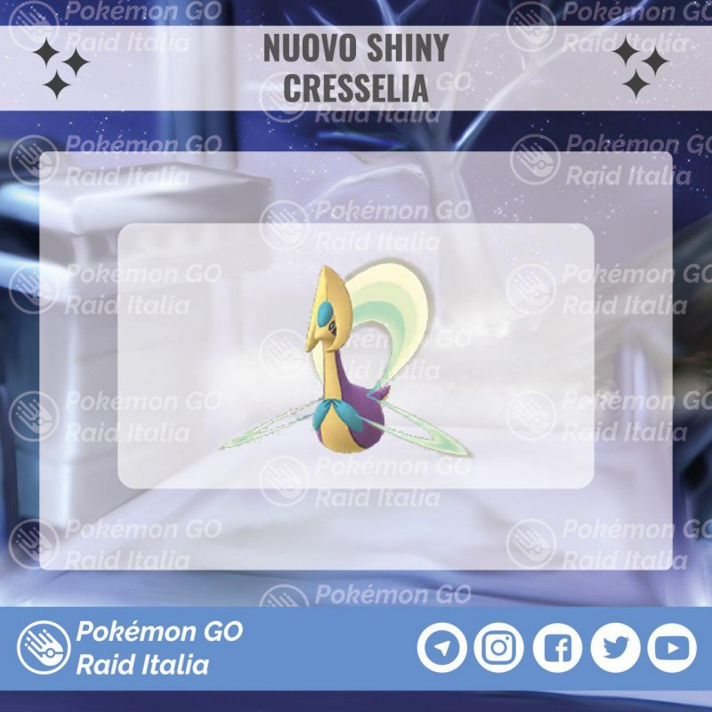Pokemon Go Cresselia Shiny Disponibile 1