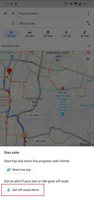 Google Maps Funzione Taxi 1