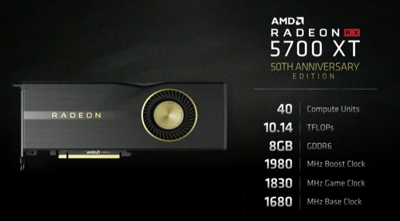 Radeon Rx 5700 Xt Anniversary