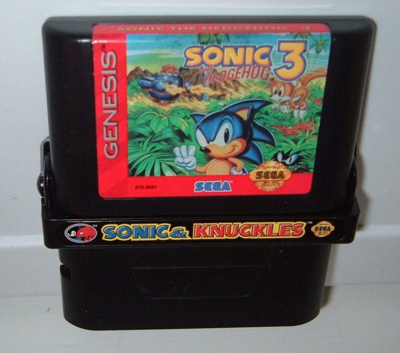 Sonic And Knuckles Cartridge With Sonic 3