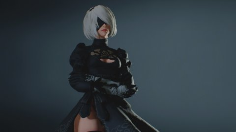 NieR Automata, the 2B cosplay by Lada Lyumos in three different versions