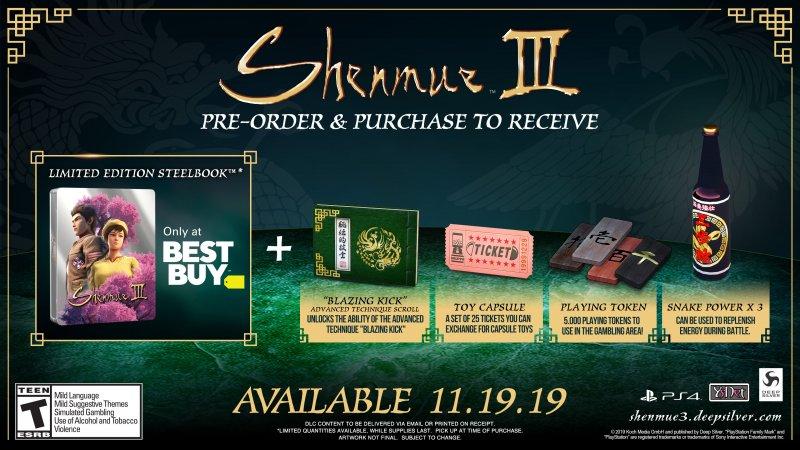 Shenmue 3 Bonus Preorder 3