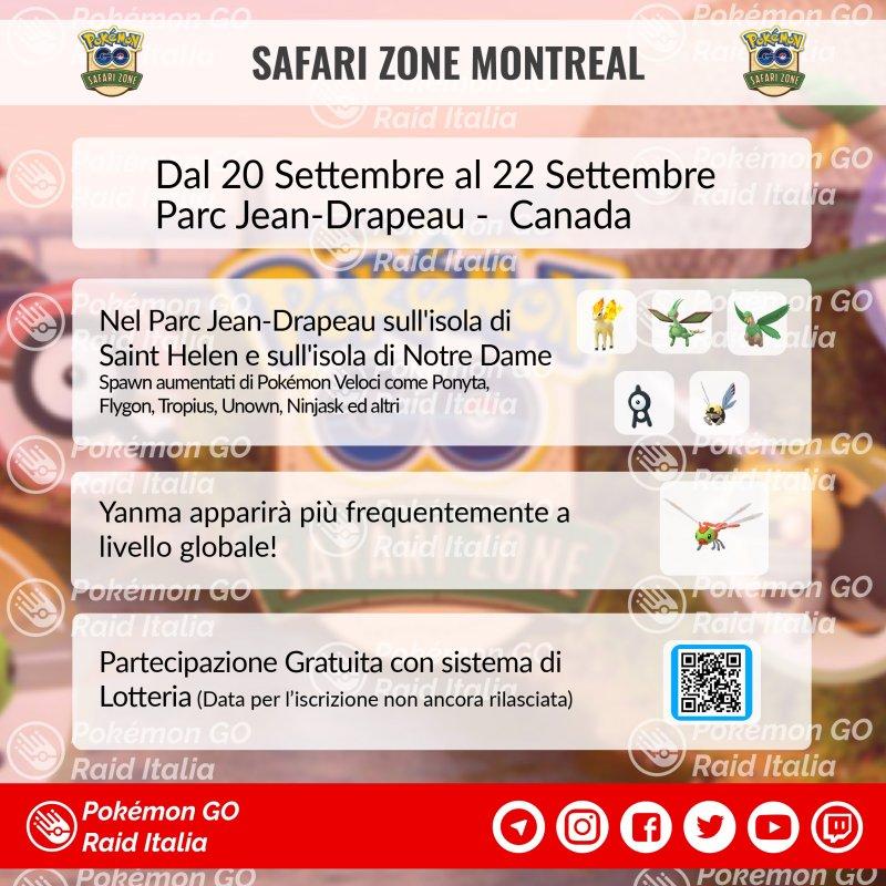 Pokémon GO, nuova Safari Zone in Canada: data e dettagli