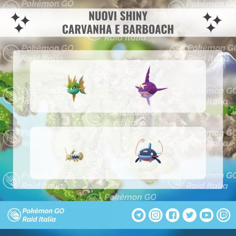 Pokemon Go Carvanha Barboach 1